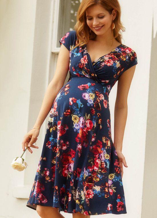 Tiffany Rose Alessandra Floral Dress In Midnight Garden