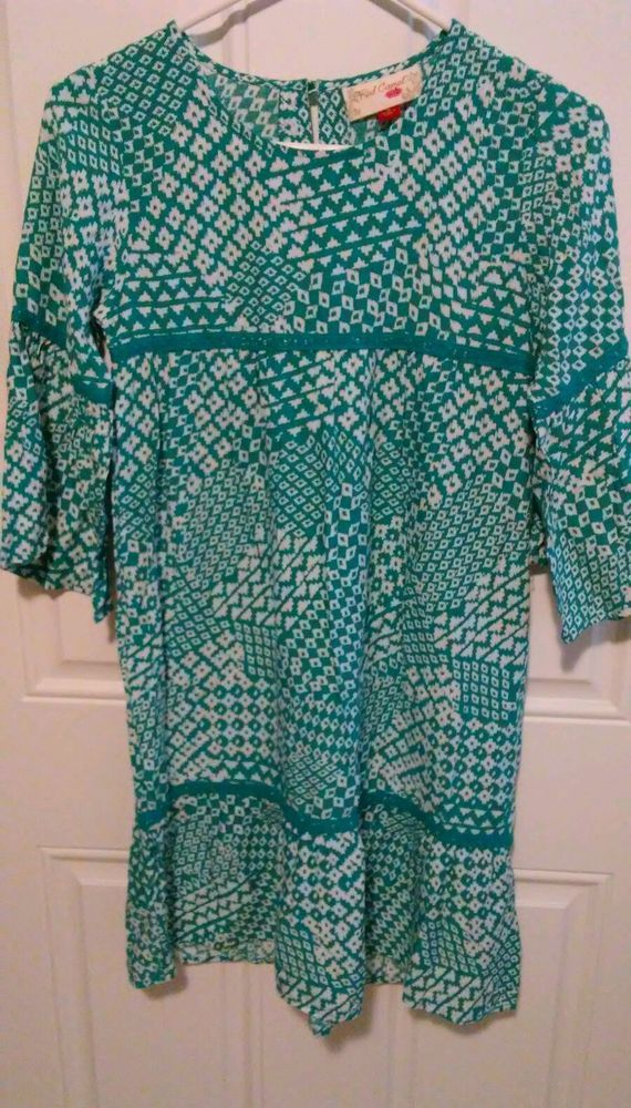 "Red Camel Girls dress new with tags. teal and white ""Indian Tea"" from Belk  