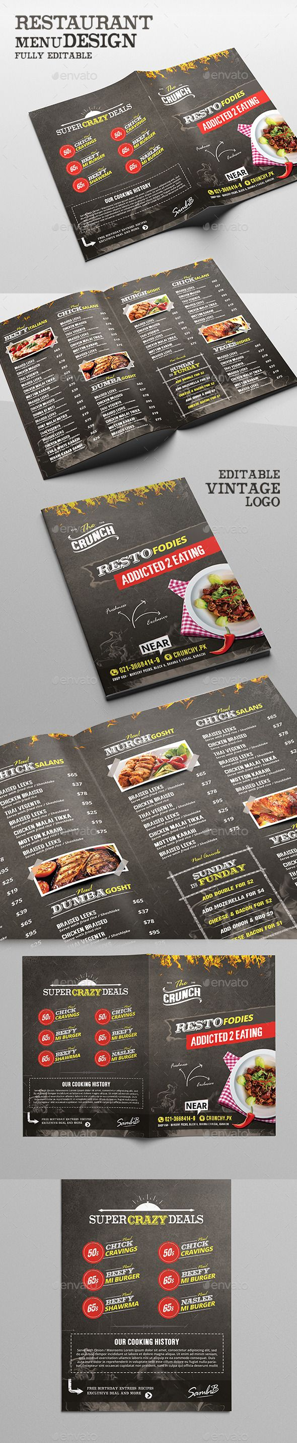 Food Menu - Chalk Board Restaurant Template #design Download: http://graphicriver.net/item/food-menu-chalk-board-restaurant/12589635?ref=ksioks
