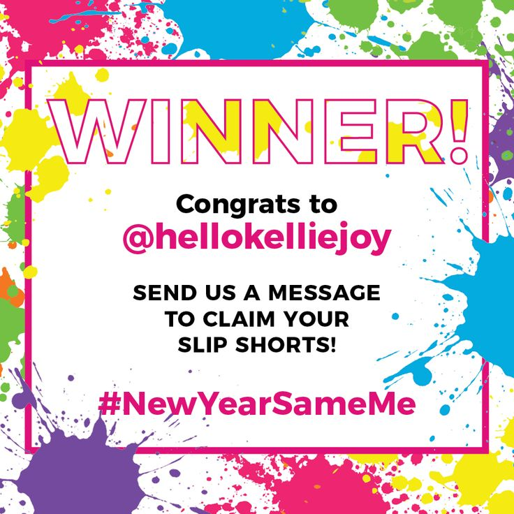 Congrats to our winner, Kellie Davidson! 🏆  We know you'll ❤️ your new pair of anti-chafing slip shorts 🙌  but really, everyone who pledged to make a 2018 body positive resolution is a winner!   #NewYearSameMe #thighsociety #stopthechafe #newyearresolution #bopo #selflove #contest
