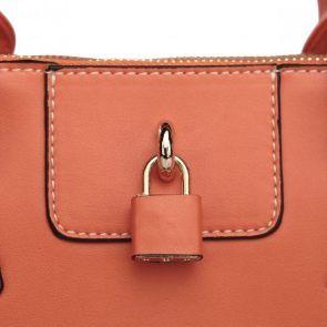 Aktówka elegantki  w kolorze rudym