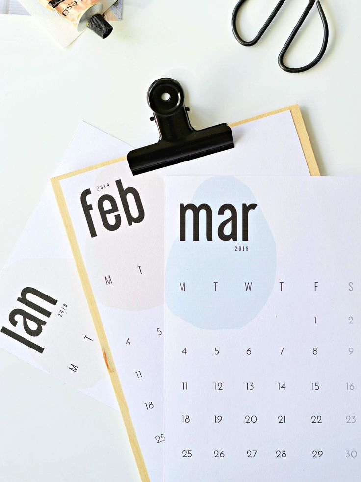 The coolest free 2019 calendar (by month) - DIY home decor ...