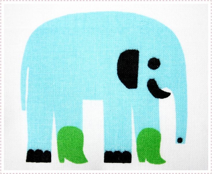 marimekko elephant.   love his green boots!