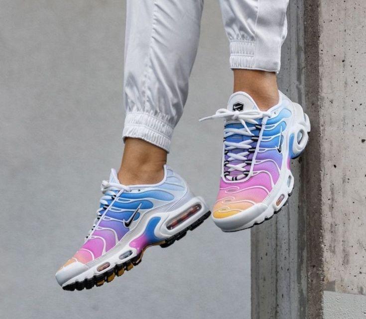 Rare Womens Nike Air Max Plus Tn White Multicolor Size 7 Brand New ...