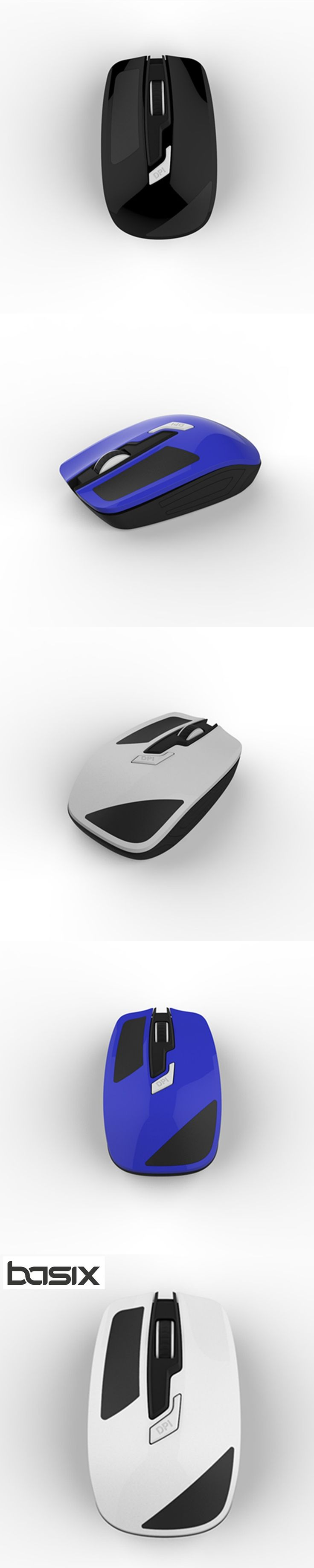 BASIX New  Mouse 2.4Ghz Wireless Optical Mouse Mute 1000 DPI for Mac PC Laptop Computer Mouse