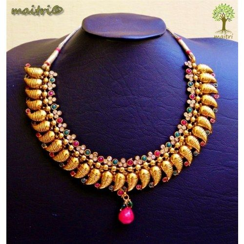 Online Shopping for KM 6 Designer Coin Necklace - Red G | Jewellery Sets | Unique Indian Products by Maitri Crafts  www.facebook.com/maitricrafts www.facebook.com/maitricrafts.maitri