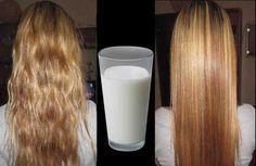 Выпрямление волос с использованием молока