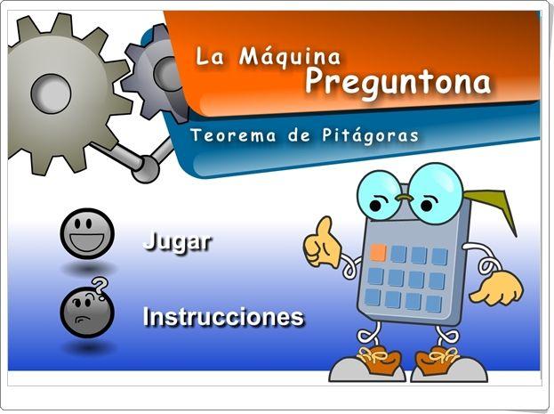 """La Máquina Preguntona: """"El Teorema de Pitágoras"""" (Juego de Matemáticas de Secundaria)"""