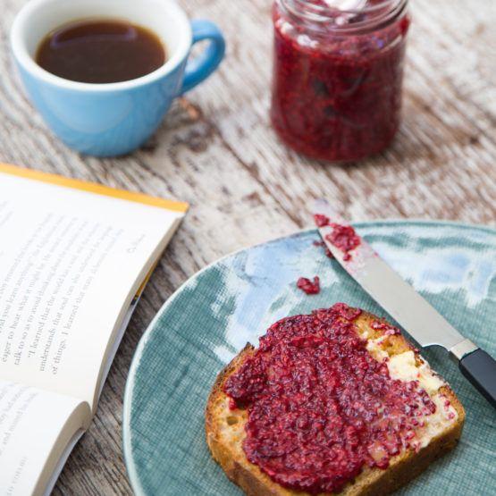 Raspberry chia jam by Nadia Lim   NadiaLim.com