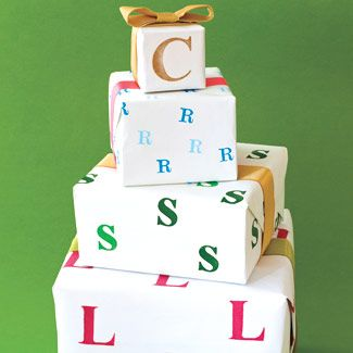 What a cute idea! Personalized wrapping paper.