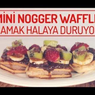 Nefis Damak Tadınıza Uygun Çabucak Hazırlanan Nogger la Mini Waffle Yapımı