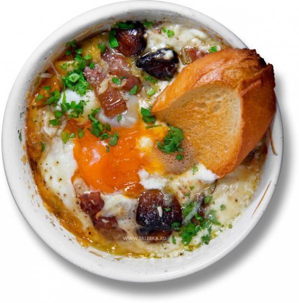 ... Mushrooms in Ham Cups) | _рецепт | Pinterest | Baked Eggs, Hams