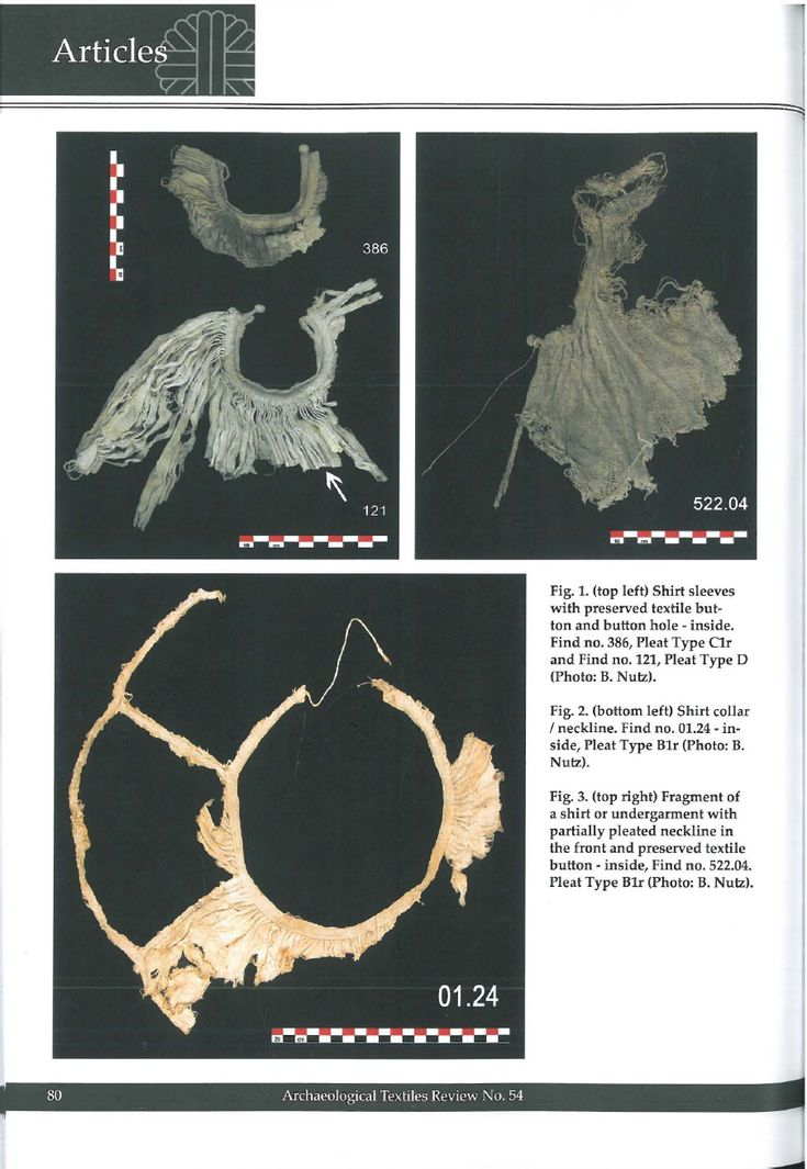 How to pleat a shirt in the 15th century. In: Archaeological Textiles Review 54, 2012, 79-91. | Beatrix Nutz - Academia.edu