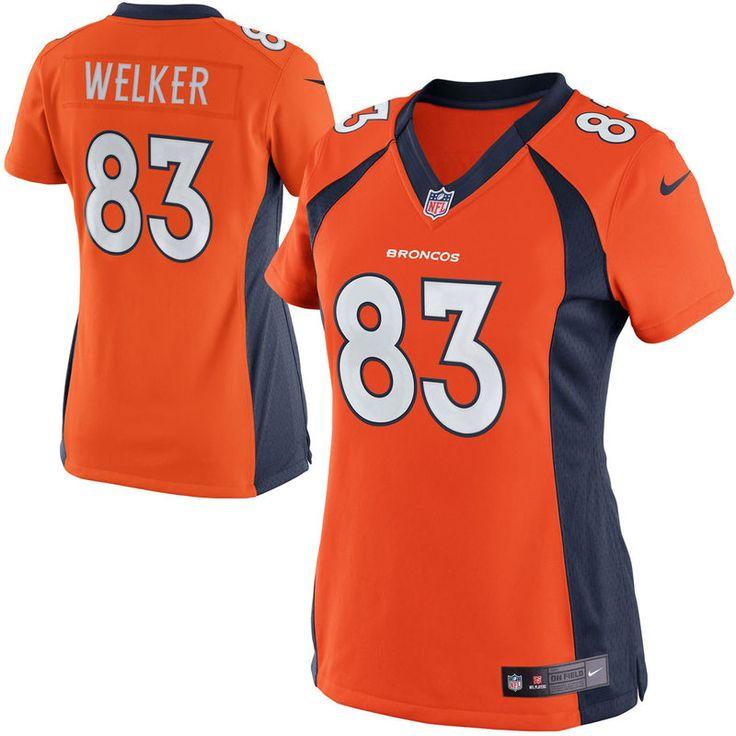 wes welker denver broncos nike womens limited jersey orange