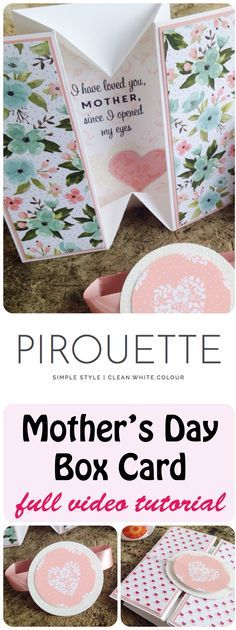 mothers day card simple box card with full video tutorial | Stampin' Up! Independent Demonstrator Sarah Lancaster