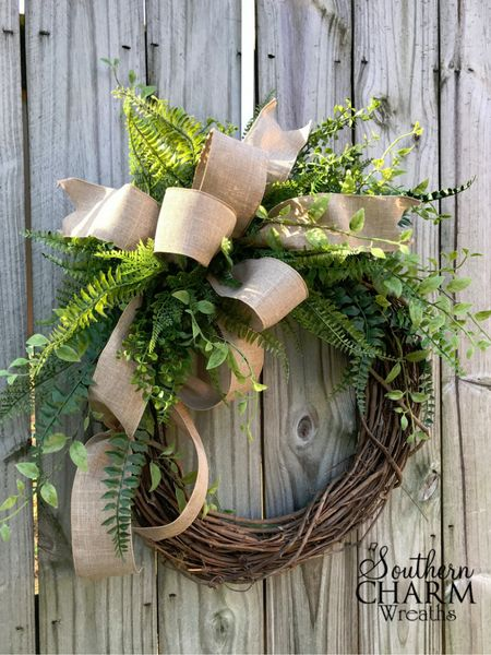 DIY Outdoor Winter Wreath for Your Front Door by Southern Charm Wreaths