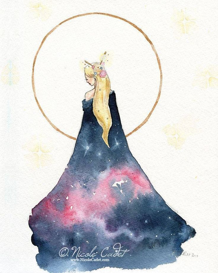 The auction for @femmethouart continues until July 27th and Star Cloak is still available #artauction #artcollective #celestial #stars #artforsale