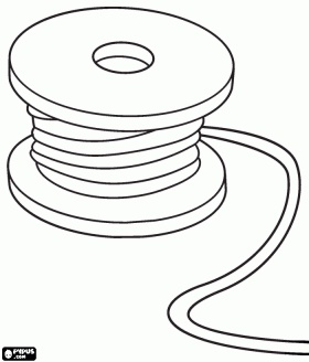 Spool Of Cable Or Reel Of Wire Coloring Page For Chase