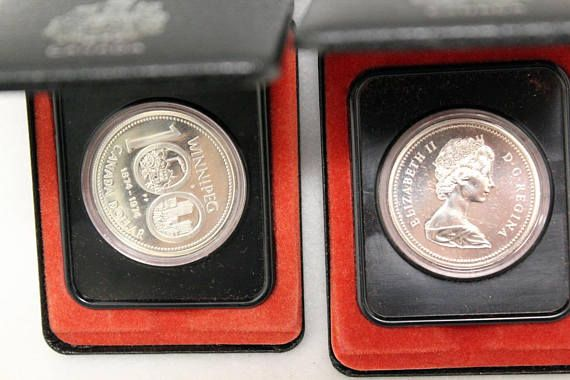 Canada 1974 Silver Elizabeth II Regina Dollar Coin Canadian #Canadian #silver #dollar #coin #proof