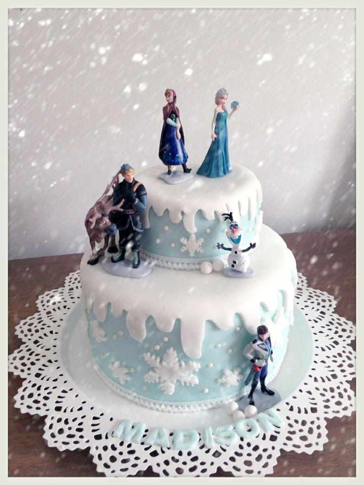 Two tier 'Frozen' cake