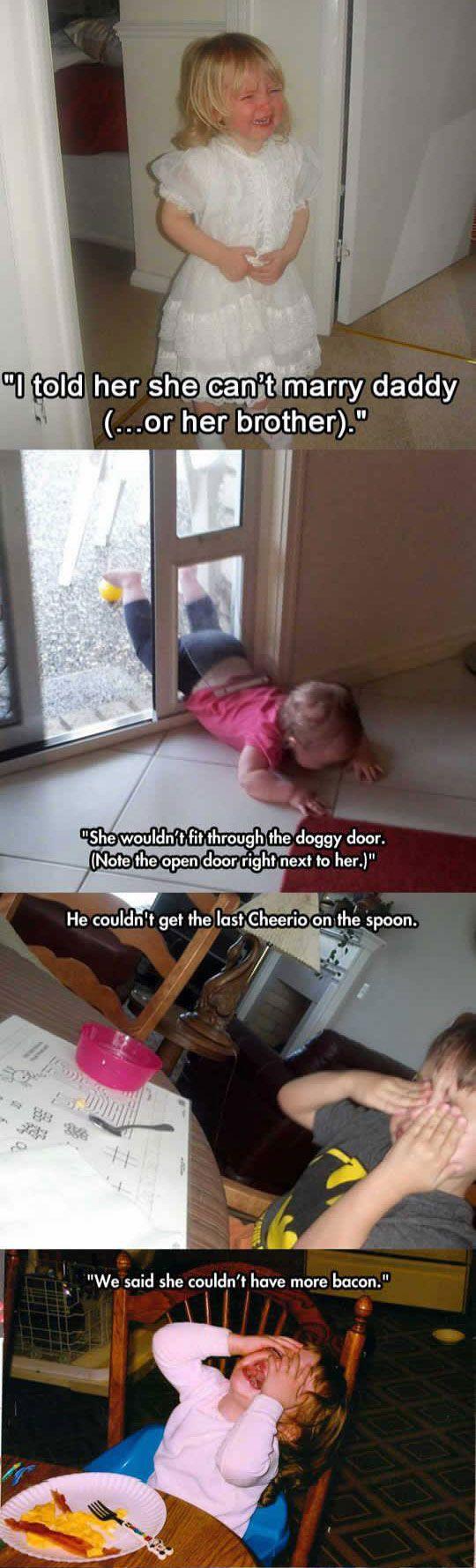 Cosas por las que lloran los niños jejeje