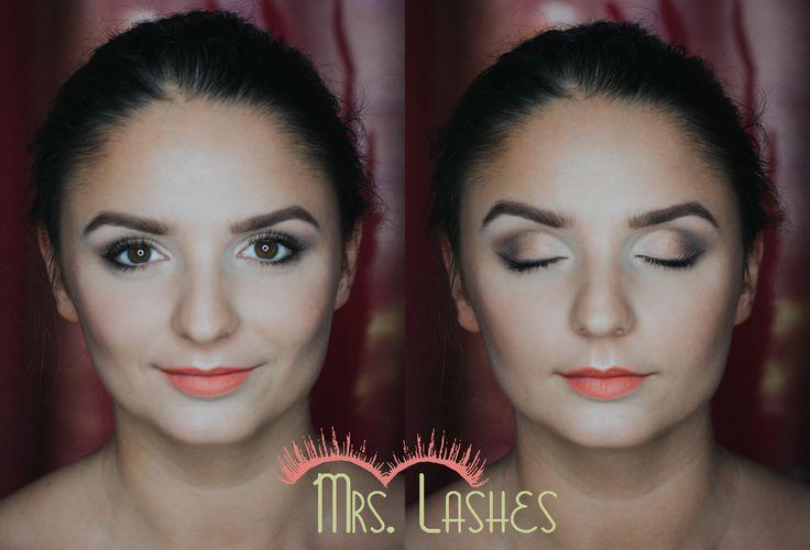 Piękna i zdolna Kasia w makijażu dziennym, podczas szkolenia. Jedne oczko moje, drugie Kasi. Zgadnijcie które :) PS. Co powiecie na konkurs w którym do wygrania byłoby indywidualne szkolenie? :)