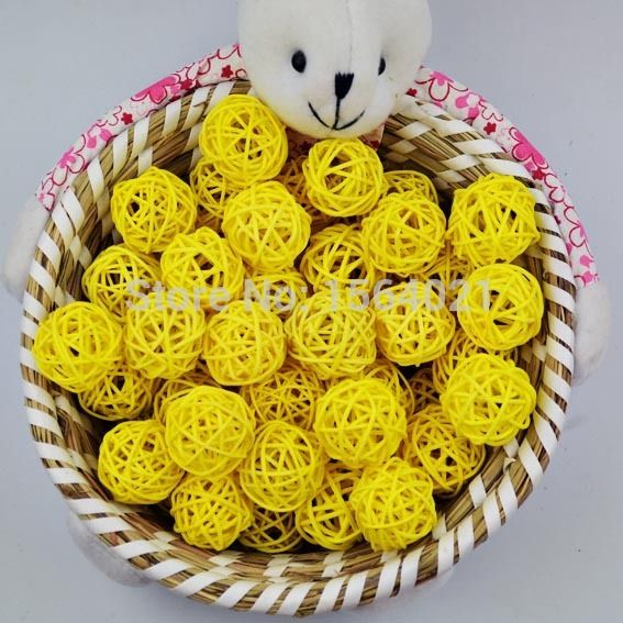 Find More Christmas Decoration Supplies Information about 3cm Yellow Rattan balls Christmas decorative wicker balls Small Sepak Takraw Ball Round rattan Ball Decoration 100pcs/lot,High Quality ball jokes,China ball tea Suppliers, Cheap balle balle meaning from YUGUO INDUSTRY AND TRADE LIMITED on Aliexpress.com
