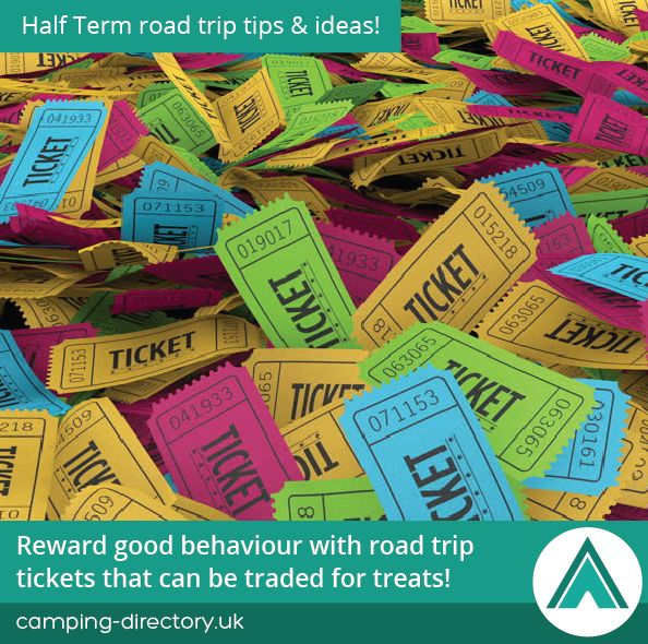 Reward good behaviour with road trip tickets that can be traded for treats! Family. Camping Tips. Holiday. Travel. Half Term. UK. Ireland.