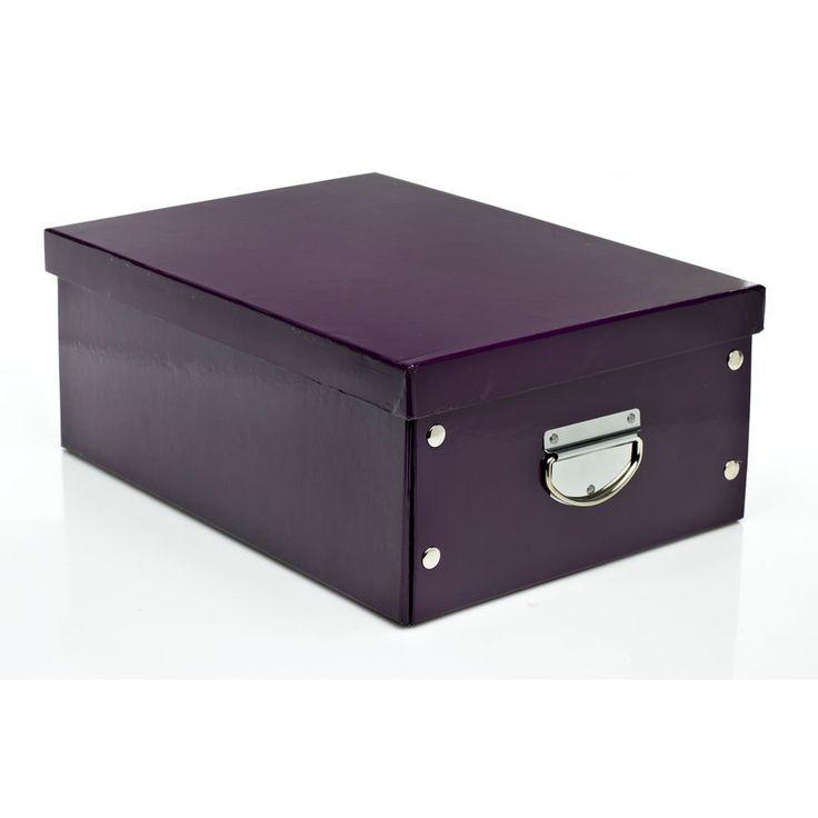 Wilko Storage Box Collapsible Plum Medium 38cmx28cmx15cm | Storage Boxes | | Storage from Wilkinson Plus