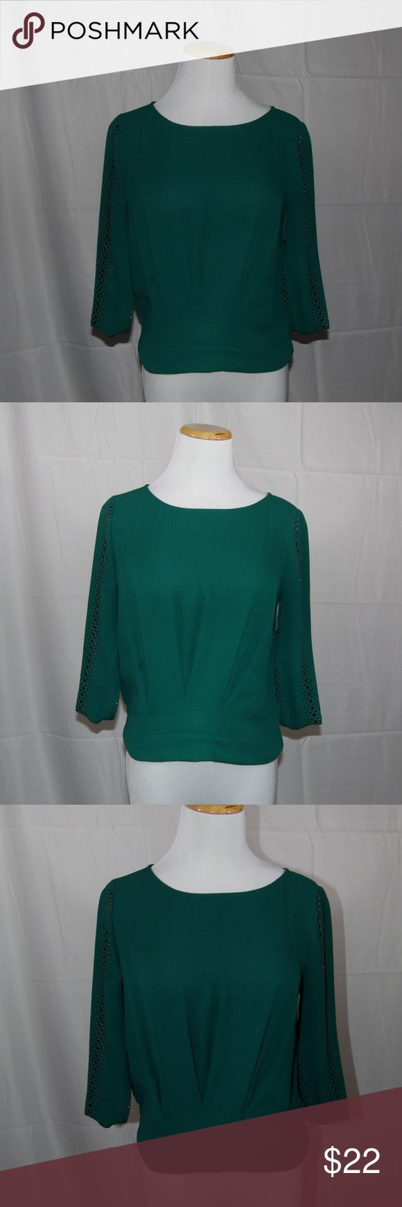 BCBGMaxAzria Top Marlene Jewel Green, Size XS, In great condition BCBGMaxAzria Top. Perfect to wear for a night out on the town, very minimally worn. BCBGMaxAzria Tops Blouses