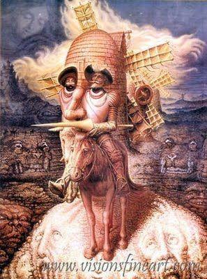 Optical illusions - Makes my brain feel like it is tilting with windmills. Classical. Octavio Ocampo, peintre mexicain, réalise des portait en peignant  différents objets. Seulement  ses portaits ont un double visage et l'on peut apercevoir une autre représentation cachée dans la peinture.
