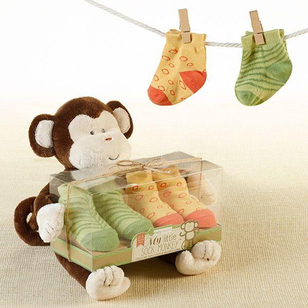 """My Little Sock Monkey"" Plush & Sock Set Baby Gift Ideas"