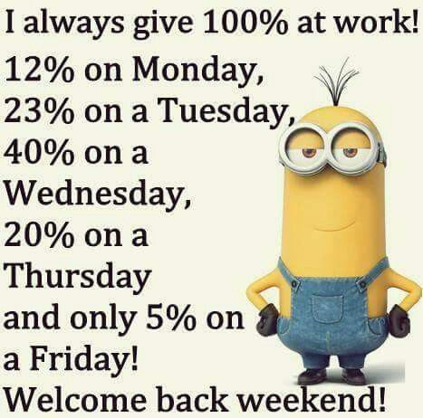 i give 10%on monday 25% on tuesday 40% on wensday 24% on thursday and 1% on friday at school!!!