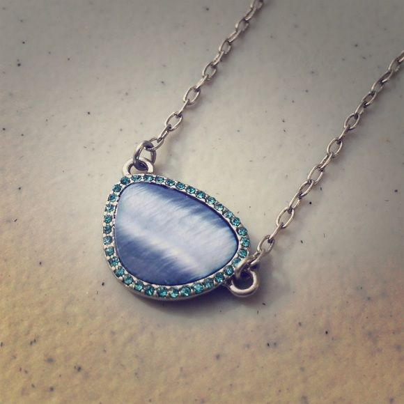 Lia Sophia Blue Stone Necklace Dainty and fun Lia Sophia Necklace. NWT. Lia Sophia Jewelry Necklaces