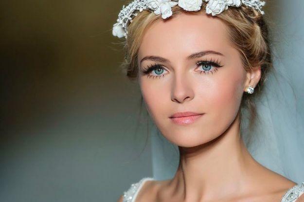 Свадебный макияж для голубых глаз ::: onelady.ru ::: #makeup #eyes #eyemakeup