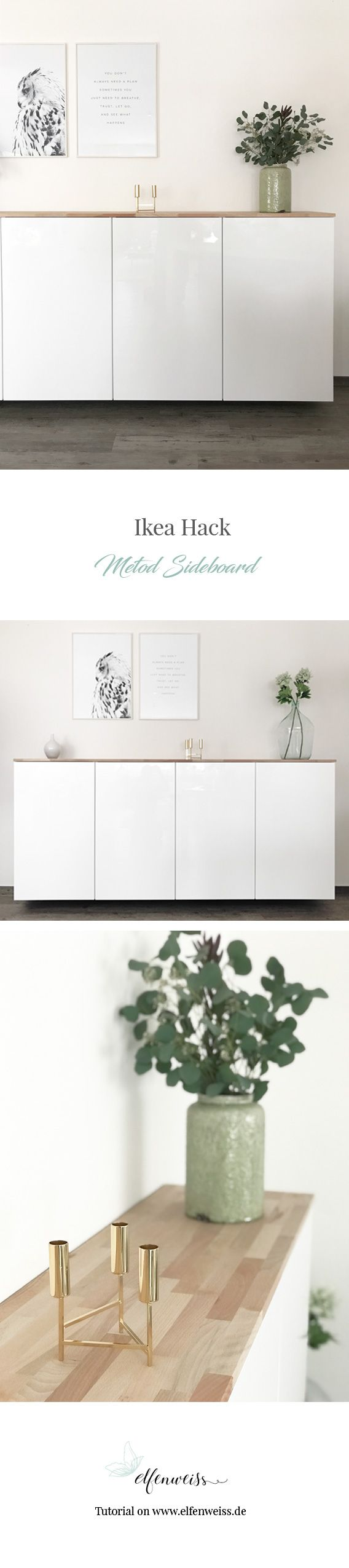 ikea hack metod k chenschrank als sideboard elfenweiss bild. Black Bedroom Furniture Sets. Home Design Ideas