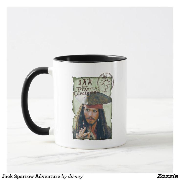Jack Sparrow Adventure. Regalos, Gifts. Producto disponible en tienda Zazzle. Tazón, desayuno, té, café. Product available in Zazzle store. Bowl, breakfast, tea, coffee. #taza #mug