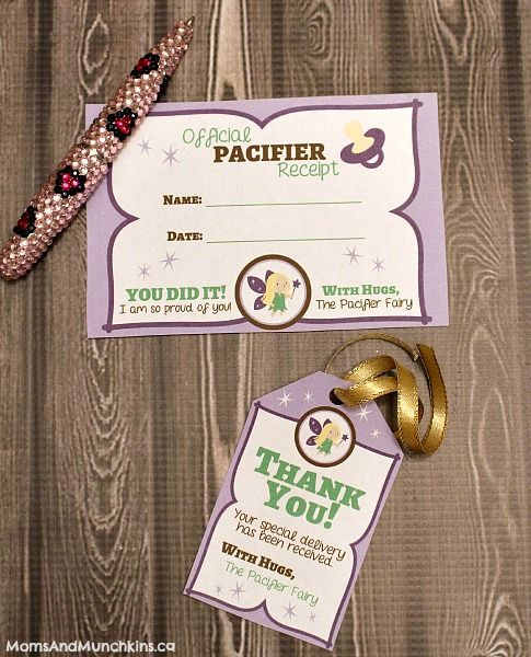 Do you have a little one who doesn't want to give up his/her pacifier? Let the Pacifier Fairy help with these fun & free printables.