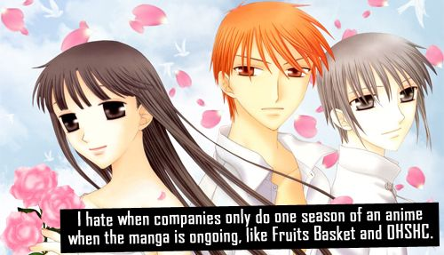 i hate it when companies only do one season of an anime when the manga is ongoing  like fruits