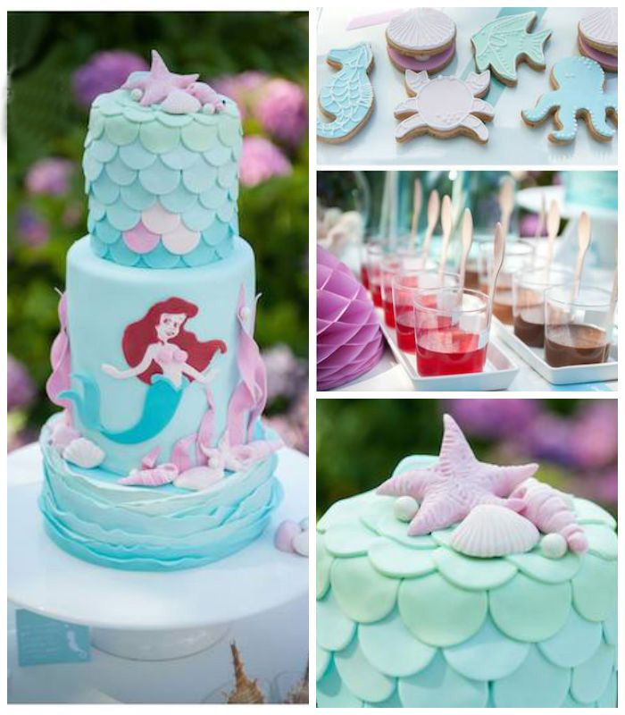 Ariel + Little Mermaid Themed Birthday Party Via Karau0027s Party Ideas  KarasPartyIdeas.com Printables,