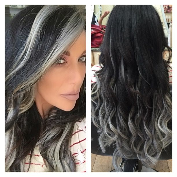 11 best s images on pinterest silver ombre with great lengths hair extensions done by liz and kristin at wild pmusecretfo Images
