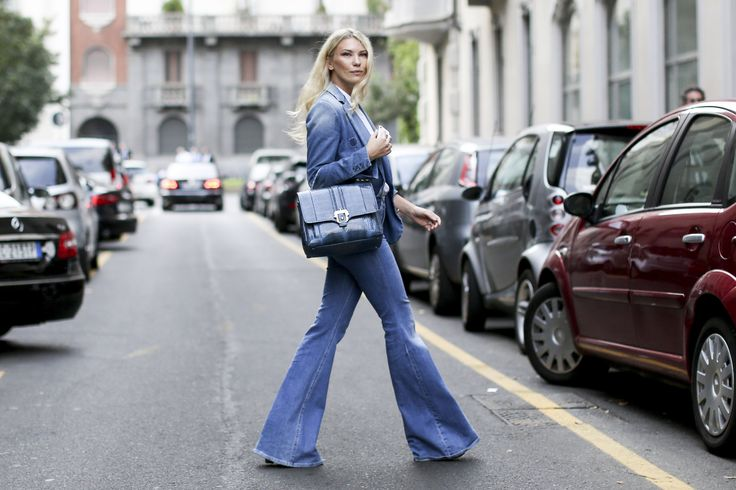 Street Style Stars Are Trading Their Denim Jackets for Denim Coats   StyleCaster