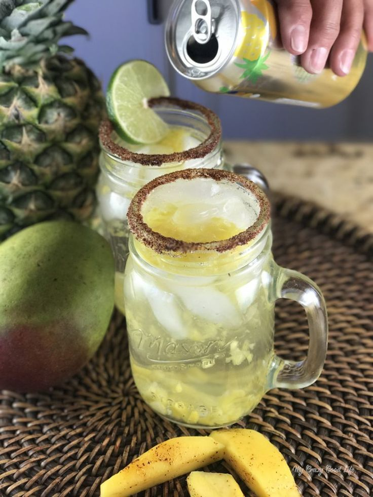 A 100 calorie mango pineapple margarita is the perfect summer drink. It's just bubbly enough to be refreshing and it's low on calories so it's guilt free!