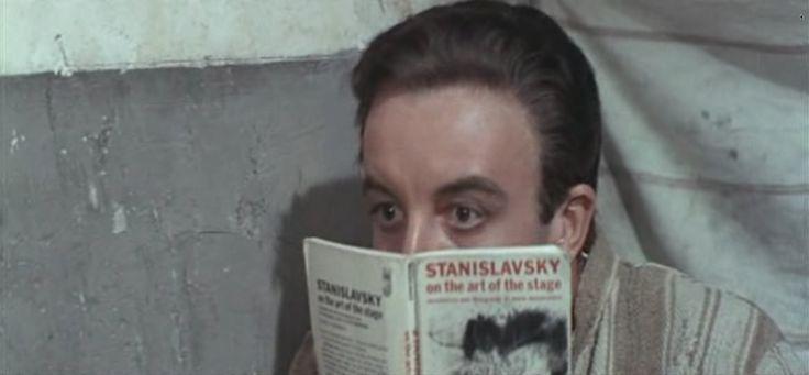 """Stanislavsky on the Art of the Stage""  by Konstantin Stanislavsky in ""After the Fox"" by Vittorio De Sica"