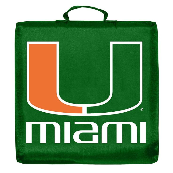 Logo Brand Miami Hurricanes Stadium Cushion, Multicolor