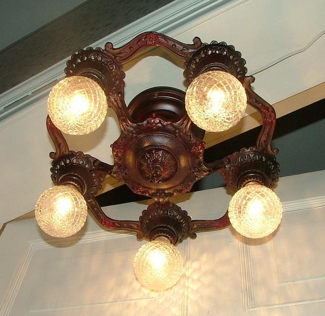 Vintage Antique Light Art Deco Hanging Ceiling Lighting Fixture