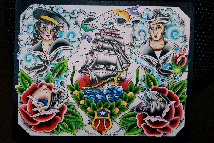 Likin the ship. mike malone tattoo designs - Google Search