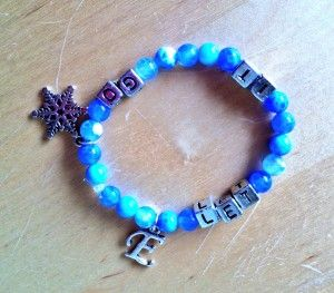 """Handmade """"Let It Go"""" Bracelet from Disney's FROZEN  @Caitlin Burton Painter  @Danielle Arganbright M.  ...May have to make this xD"""