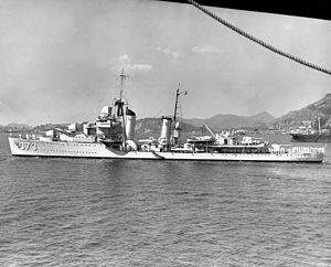 USS Shaw (DD-373) Mahan-class Destroyer named for Captain John Shaw, (1773-1823), Who served in the early years of the U.S.Navy.