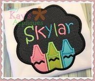ONLY $17! Crayon Monogram School Frame Sample Sale. Back to School shirt girly back to school crayon school shirt